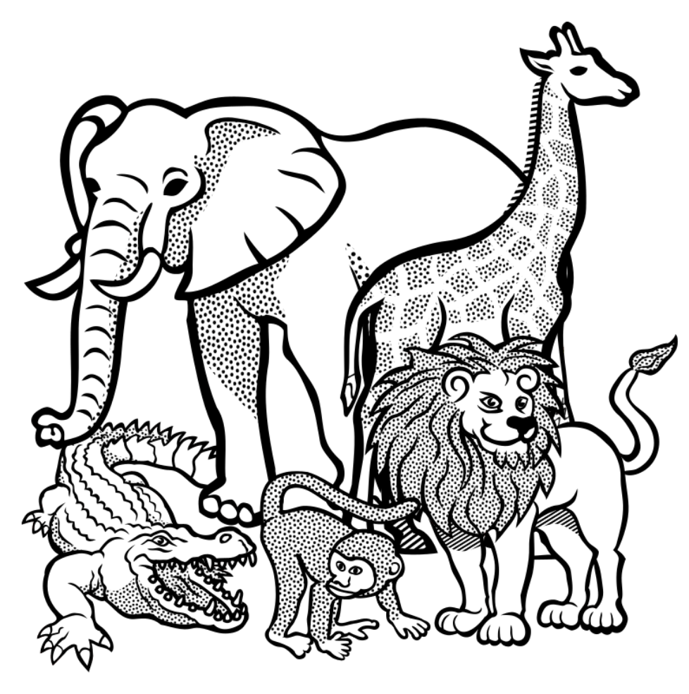 Tiere-lineart
